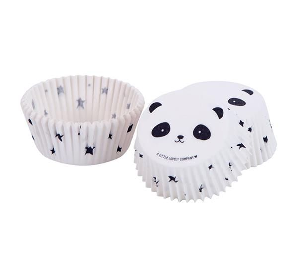 Image of   Cupcake forme fra A Little Lovely Company - Panda (50 stk)