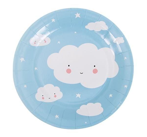 Image of   Engangstallerken fra A Little Lovely Company - Cloud (12 stk)