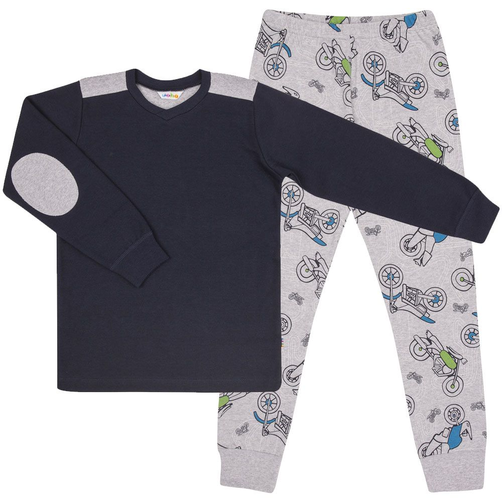 Image of   Pyjamas fra Joha - Navy / Motorcykel