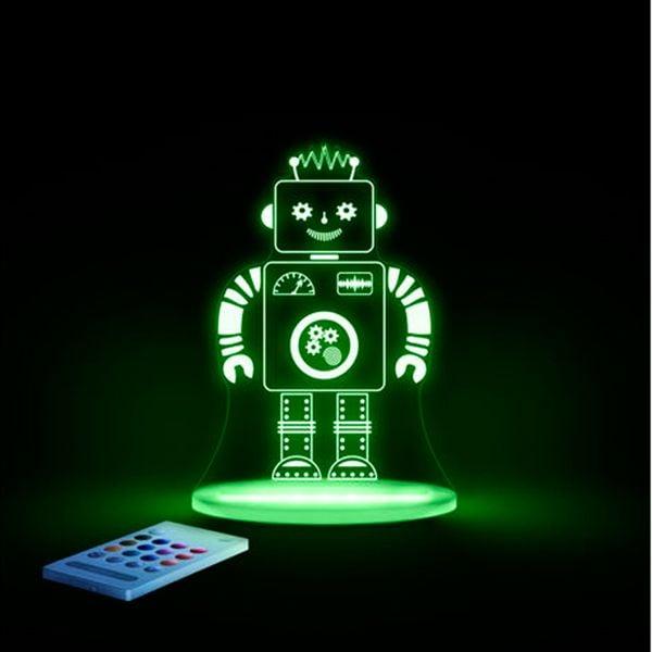 Aloka sleepy lights Aloka natlampe m. fjernbetjent regnbue lys - robot fra babygear.dk