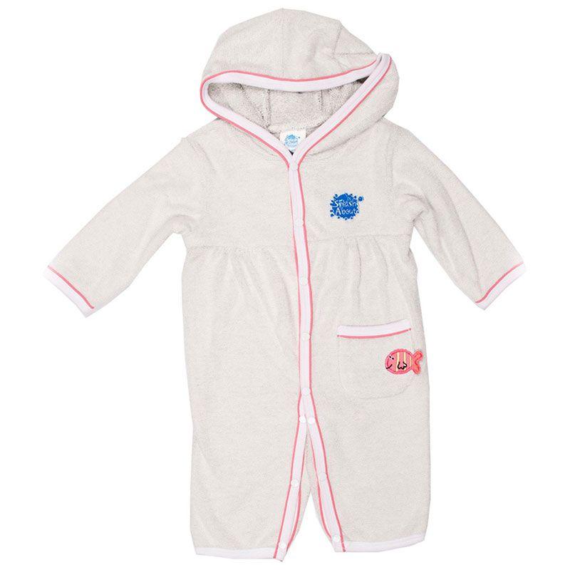 Badekåbe heldragt fra Splash About - All in One - Hvid/pink