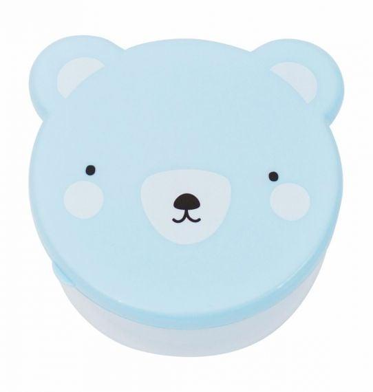 Image of   Madbokse fra A Little Lovely Company - Blå bjørn (4 stk)