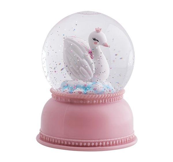 Image of Snekugle fra A Little Lovely Company - Snowglobe light Swan (SGLOVL03)