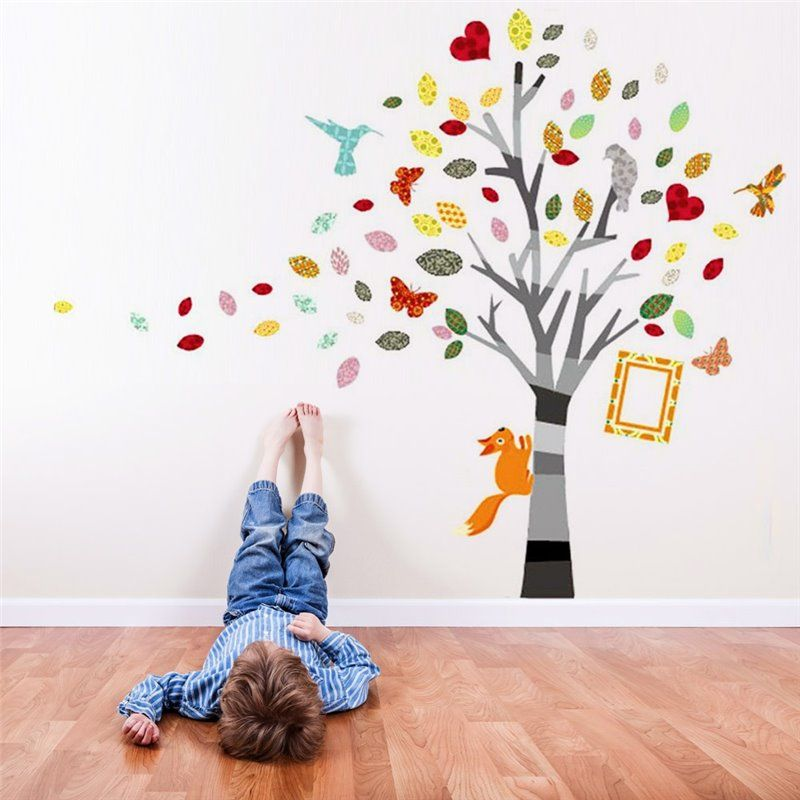 Image of   Wall sticker - Farverige Foto Tree