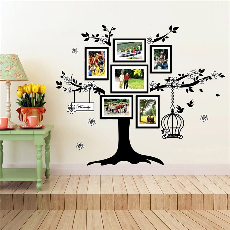 Image of   Wall sticker - Fotoramme Birdcage
