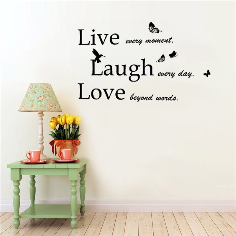 Image of   Wall sticker - Citat - Live! Laugh! Love