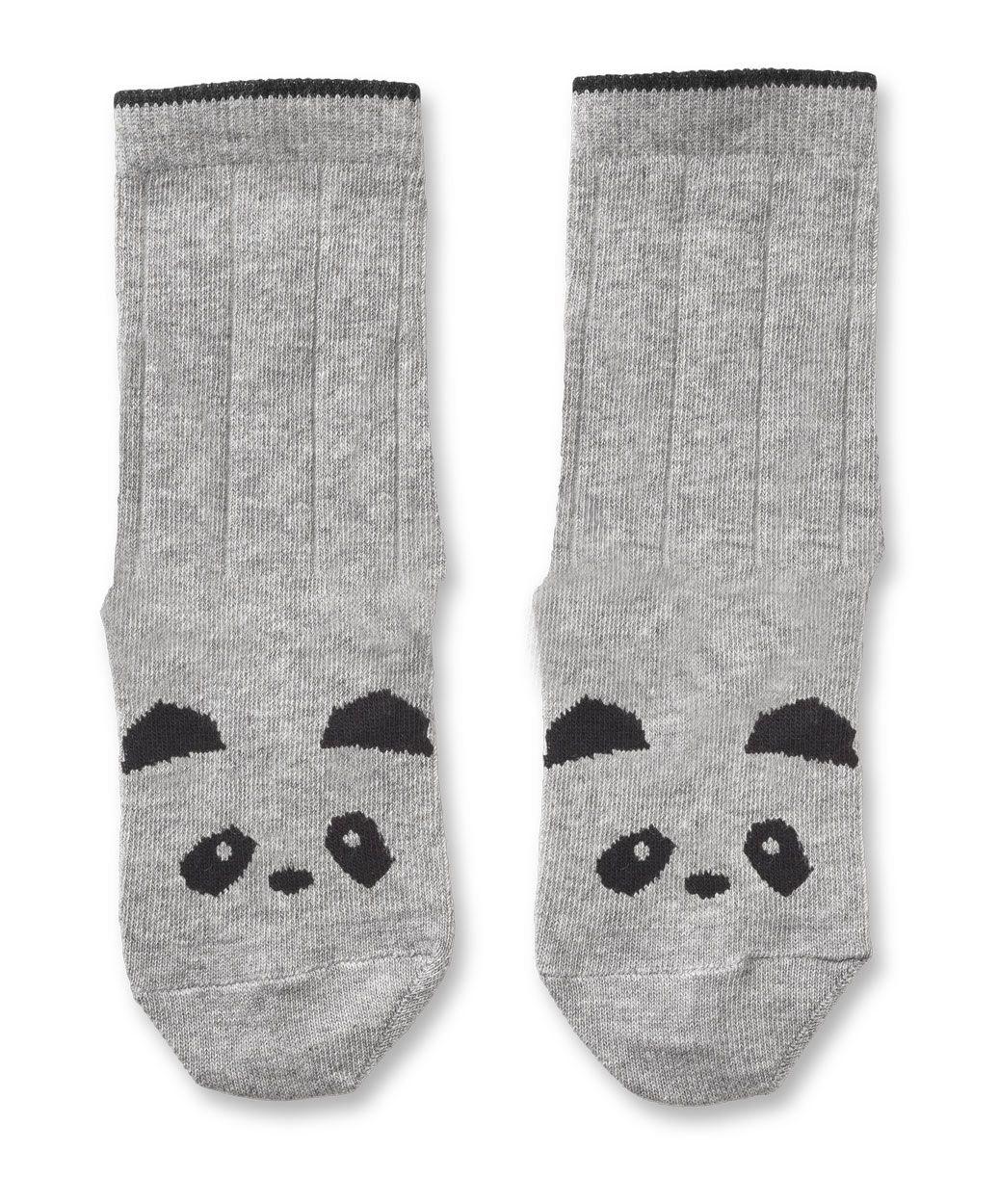 Image of   Strømper fra Liewood - Panda - Grey melange