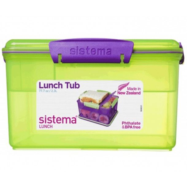 Image of Madkasse - Sistema Lunch Tub - Itsy Bitsy Lime/lilla (41665_lime-lilla)