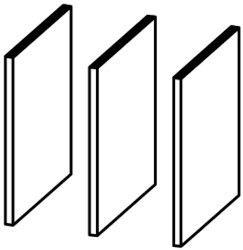 Image of Skillerum til reol fra Combee (3 stk) (82268)