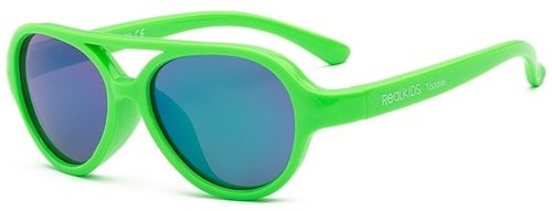 Image of Solbrille m. Flex Fit fra Real Shades - SKY - Neon-grøn (sky-neongron)