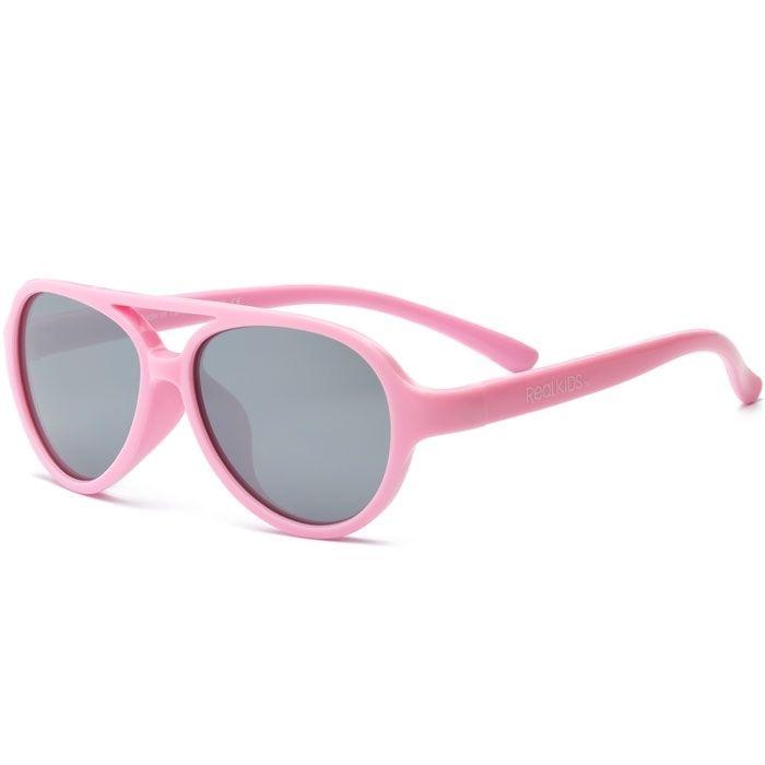 Real kids shades – Solbrille m. flex fit fra real shades - sky - light pink fra babygear.dk