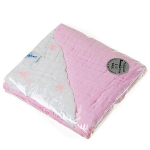 Image of Luksus stofbleer og vaskeklude fra Snutten (6 stk) - Rose Star (snutten_mix_pink)