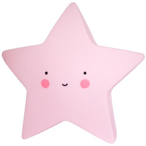 A little lovely company Led lampe fra a little lovely company - mini star pink på babygear.dk