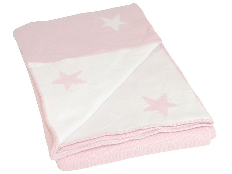 Tæppe fra BLISS Sthlm - Basic Star - Rosa (80x100)
