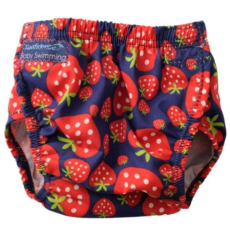 Image of Baby badebukser fra Konfidence - one size fits all - Strawberry (5060150982576)