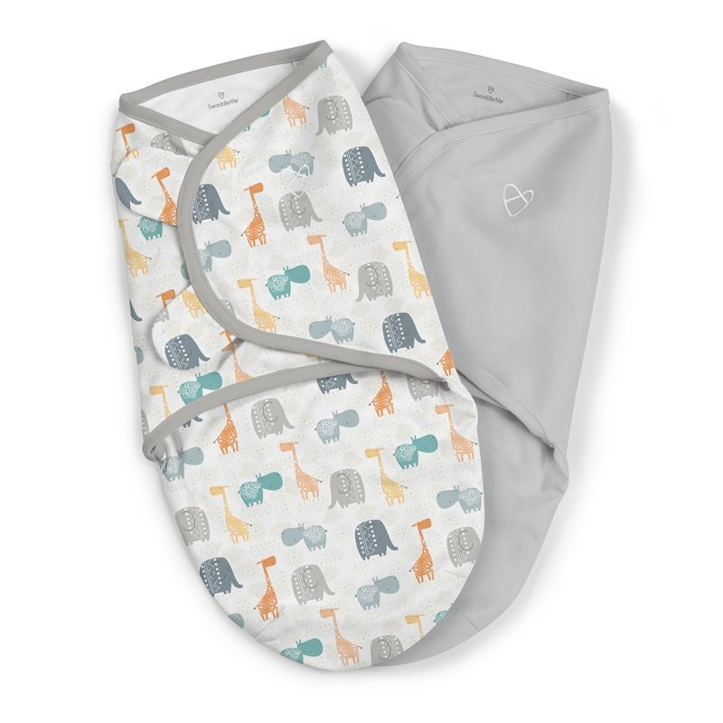 Image of Svøb fra Summer Infant - SwaddleMe - Bohemian Jungle (2-pak) (SMR-BED08)