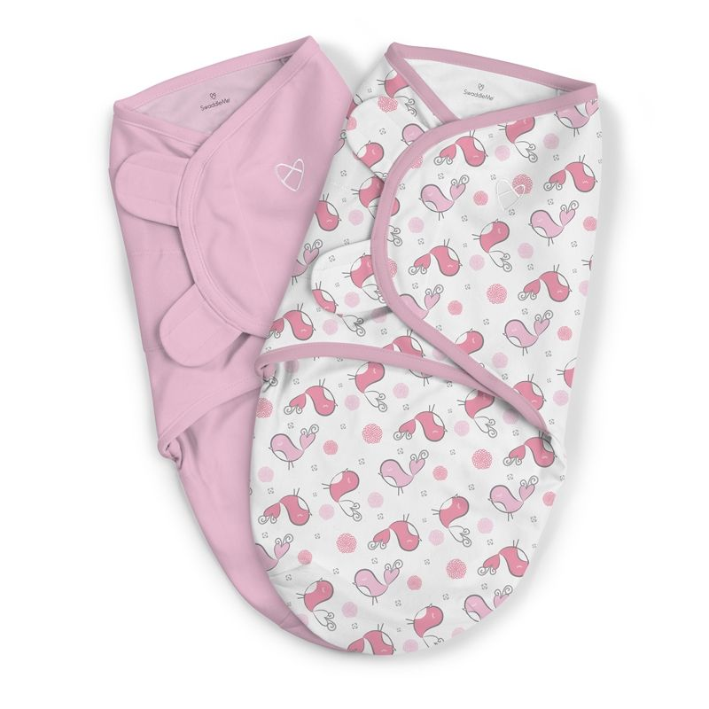 Image of Svøb fra Summer Infant - SwaddleMe - Tweet Tweet (2-pak) (SMR-BED09)