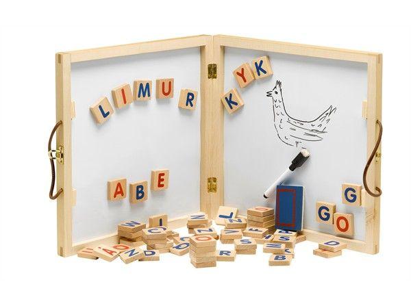 Image of   Alfabet whiteboard tavle m. bogstaver fra Krea