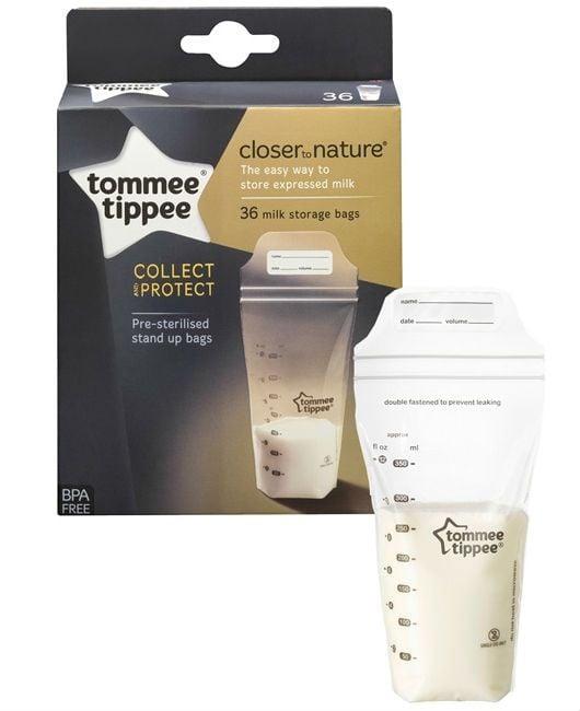Brystmælk fryseposer fra Tomme Tippee (36 stk)