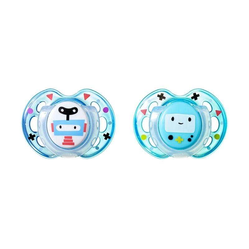 Sutter fra Tommee Tippee CTN - Fun Blue Robots (0-6m)