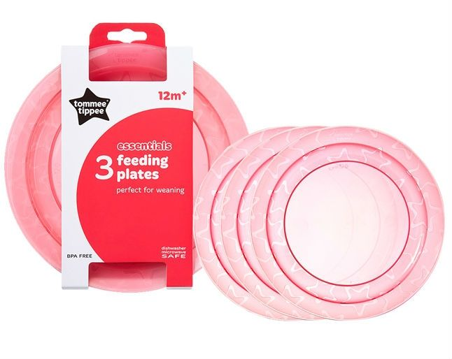 Image of   Tallerken fra Tommee Tippee - Frokost - Pink (3-pak)