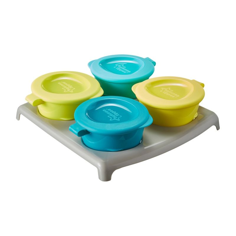 Image of Pop Up Freezer Pots fra Tommee Tippee (4x60ml) - Lime/Turkis (TT-FED04)