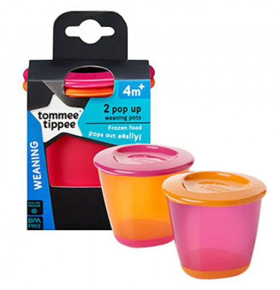 Image of   Pop Up Pots fra Tommee Tippee (2x120ml) - Pink