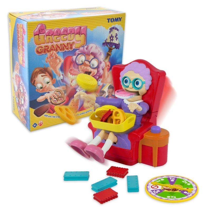 Image of Familiespil fra Tomy - Greedy Granny (5+) (TMY-TOY32)