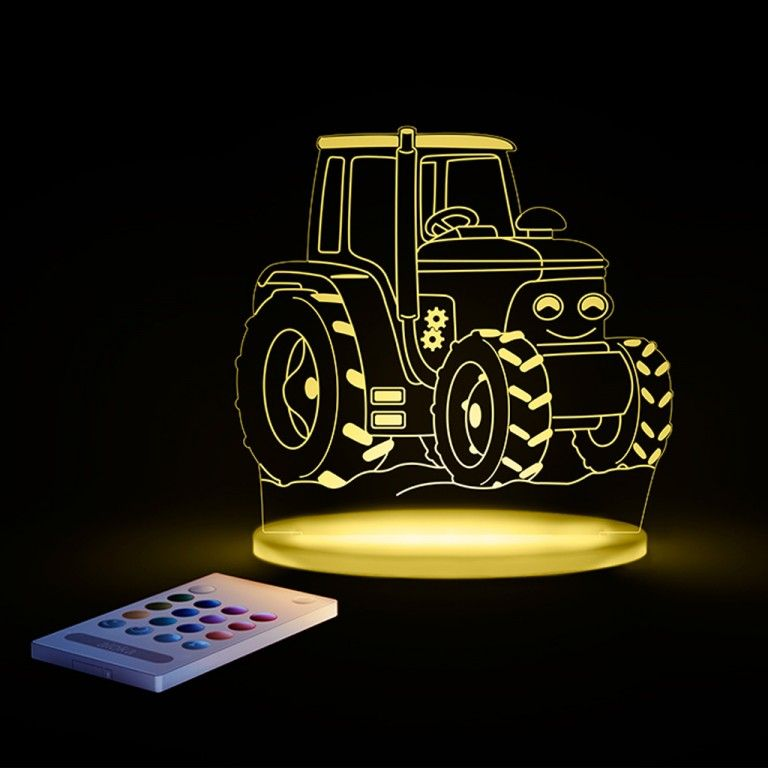 Image of   Aloka natlampe m. fjernbetjent regnbue lys - Traktor