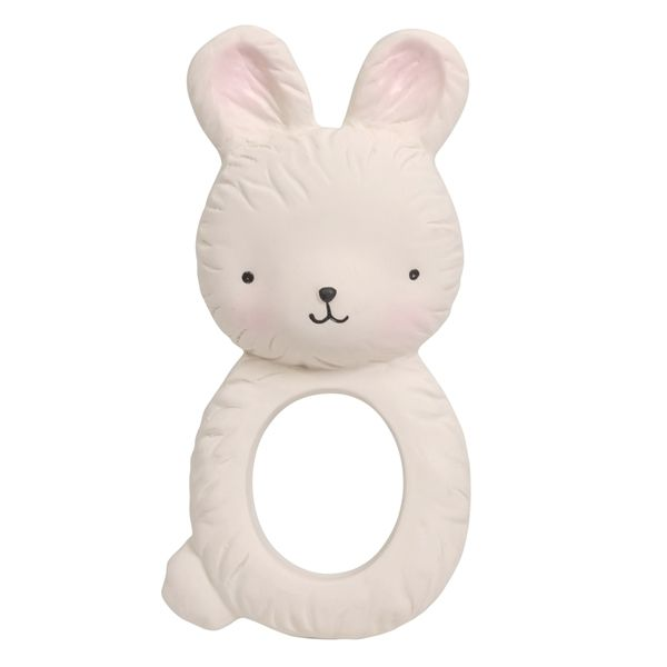 Image of Bidering i naturgummi fra A Little Lovely Company - Bunny (TRBUWH06)