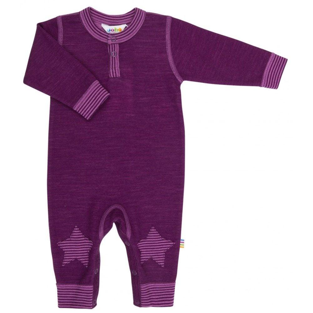 Image of   Jumpsuit i uld fra Joha - Stars - Bordeaux melange m. fuchsia
