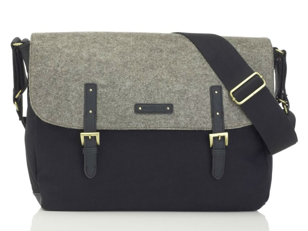 Pusletaske fra Storksak - Ashley Felt Grey/Black