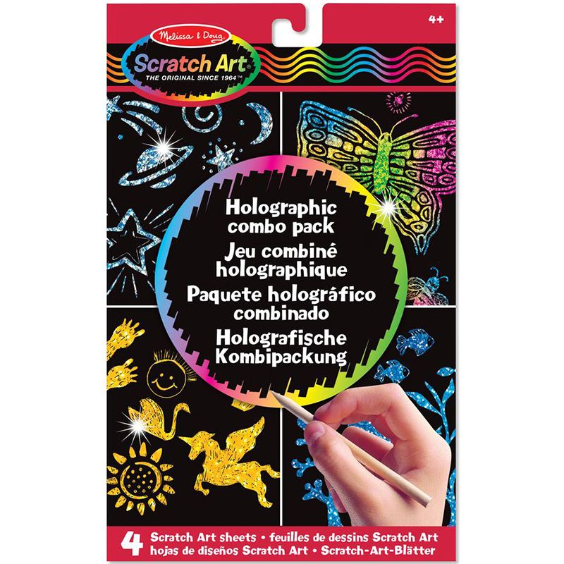 Image of Scratch Art fra Melissa & Doug - Holographic Combo Pack (15806)
