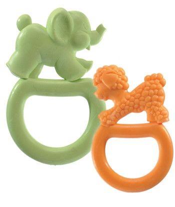 Image of   Bidering fra Vulli - Vanilla Teething Rings - Lamb and Elephant (2 stk)