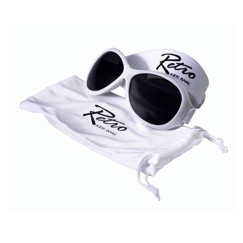 Image of   Solbrille - Baby Banz - Retro - Hvid
