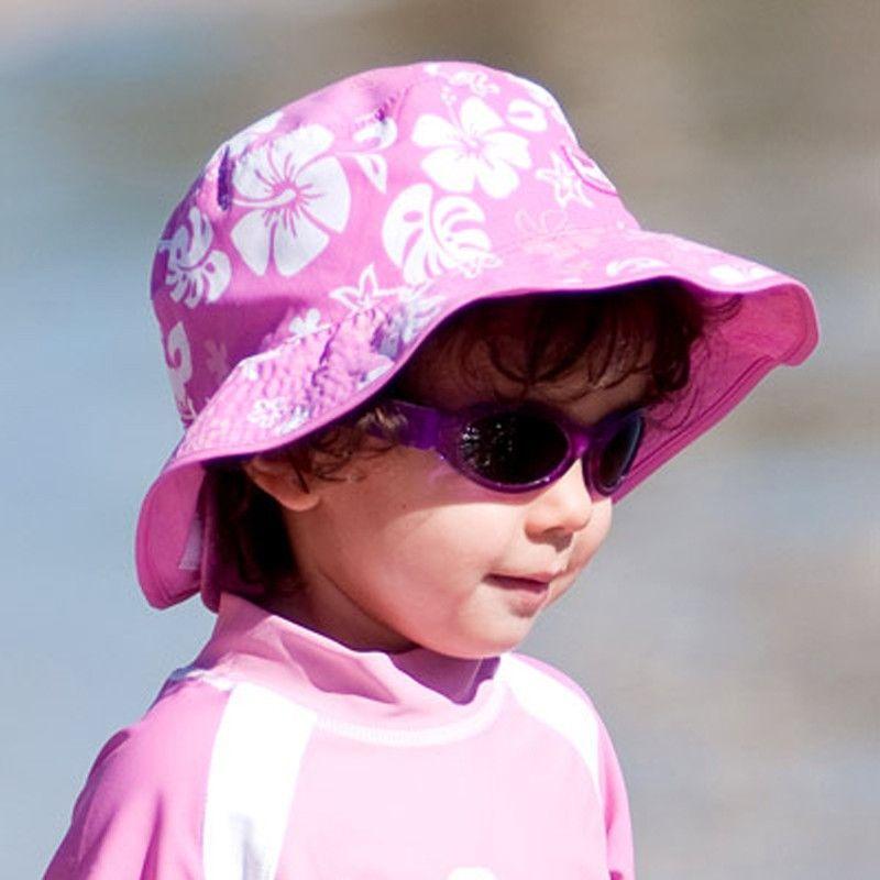 Image of   Solhat (vendbar) - Baby Banz - Pink Havskildpadde