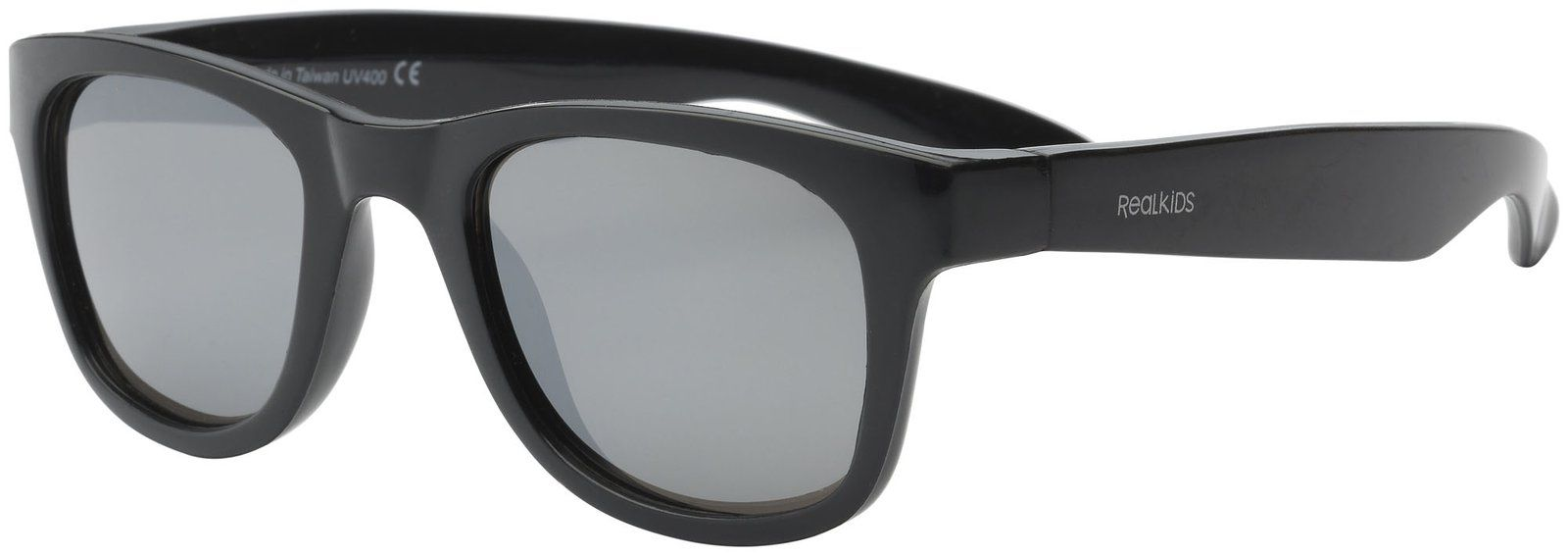 Real kids shades Solbriller fra real shades - surf flex - sort fra babygear.dk
