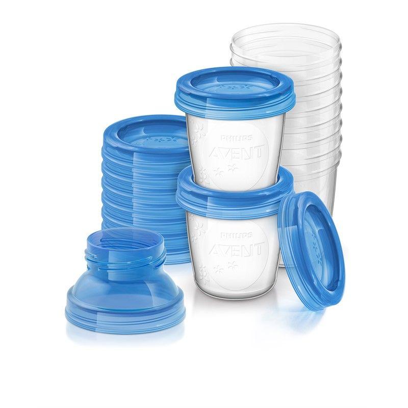 Philips avent Brystmælk beholdere fra philips avent (10x180ml) på babygear.dk