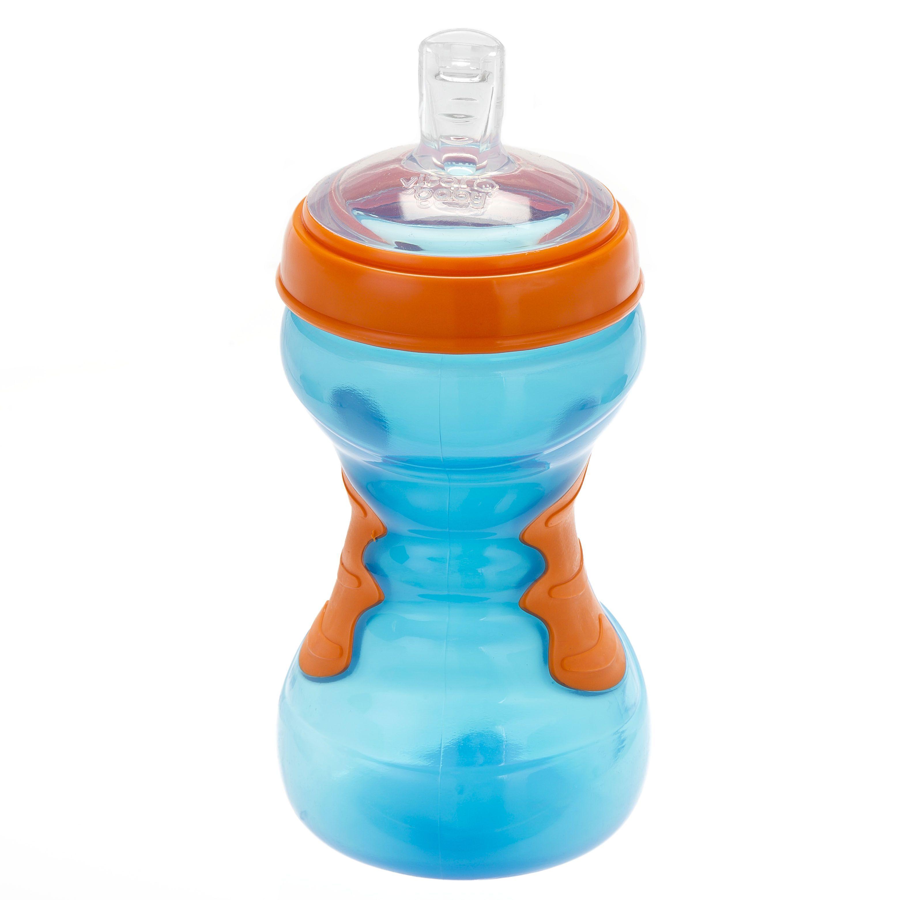 Vital baby Drikkeflaske fra vital baby - spildfri - softgrip sportz (12m+) - blå fra babygear.dk
