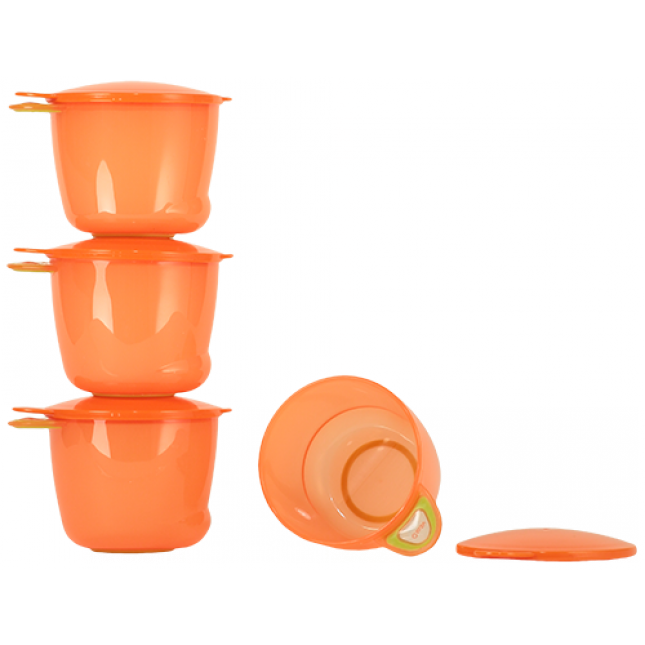 Madbokse fra vital baby - prep and go food pots (4x170ml) - orange fra Vital baby på babygear.dk