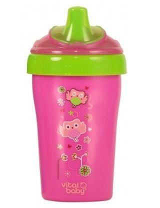 Billede af Drikkeflaske fra Vital Baby - Spildfri - Straw Cup (15m+) - Pink