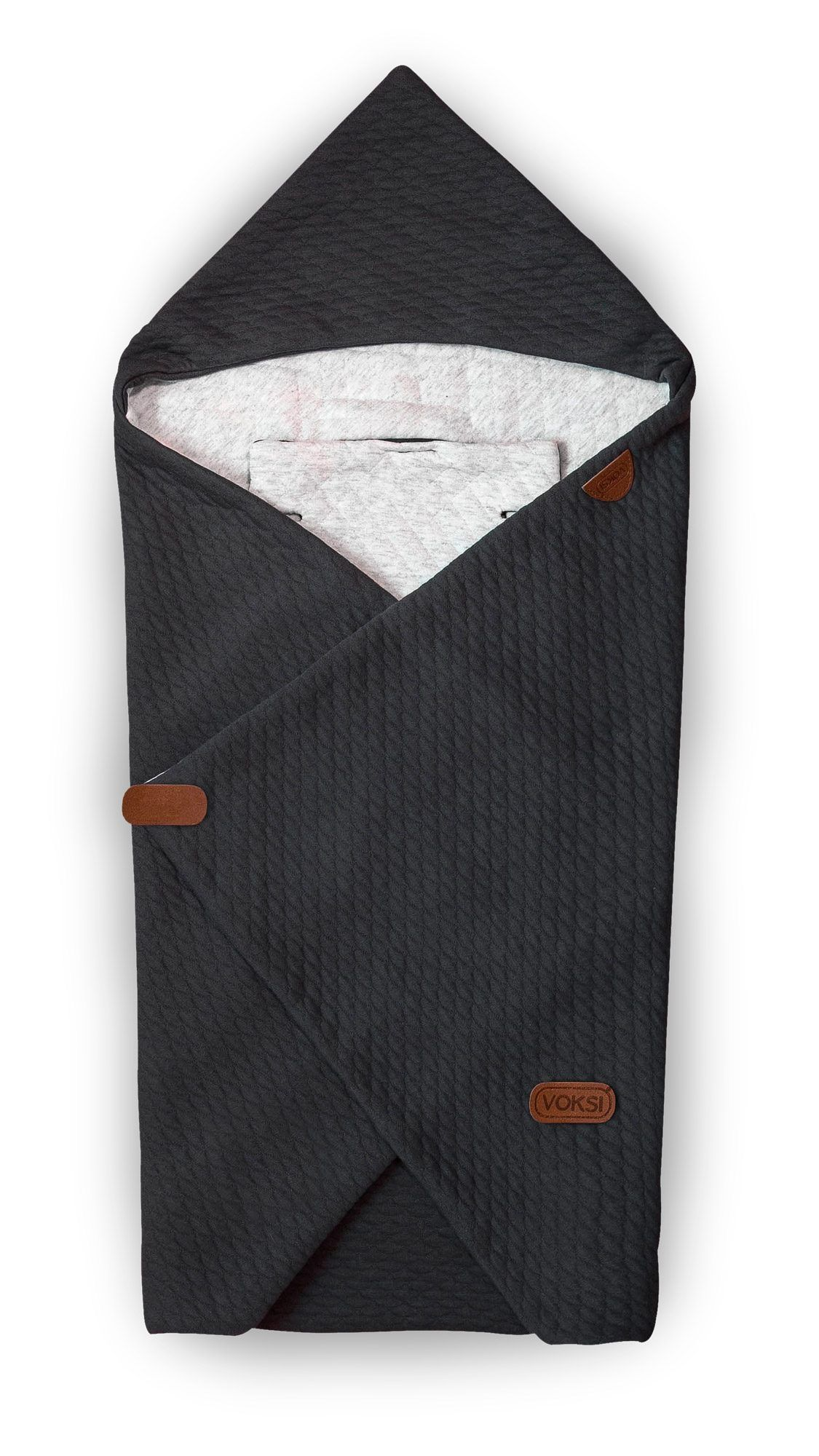 Image of   Baby Wrap fra Voksi - Quilted Dark Grey