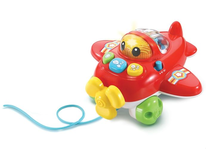 Image of Flyvemaskine med lys og lyd fra VTech - Pull and Pop Airplane (VTC-TOY22)
