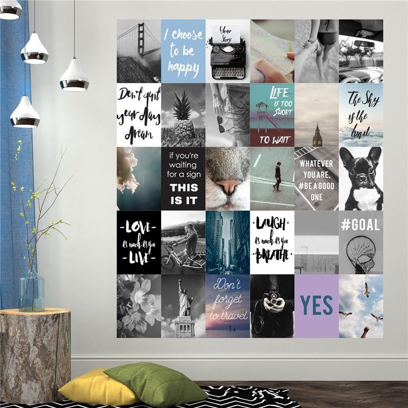 Image of   Wall sticker - Travel Collage Mural