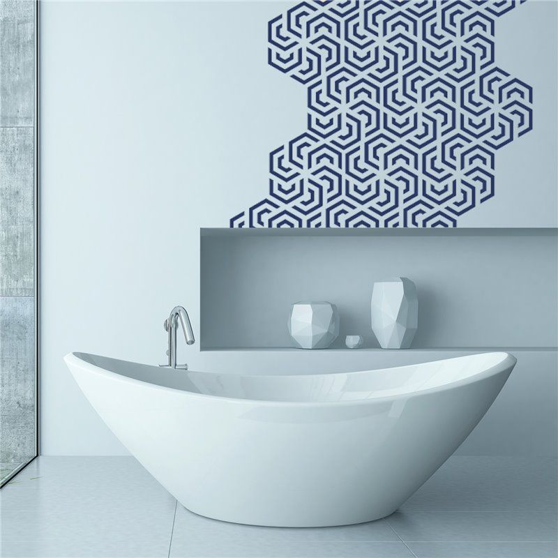 Image of   Wall sticker - Polygon Geometri Mønster