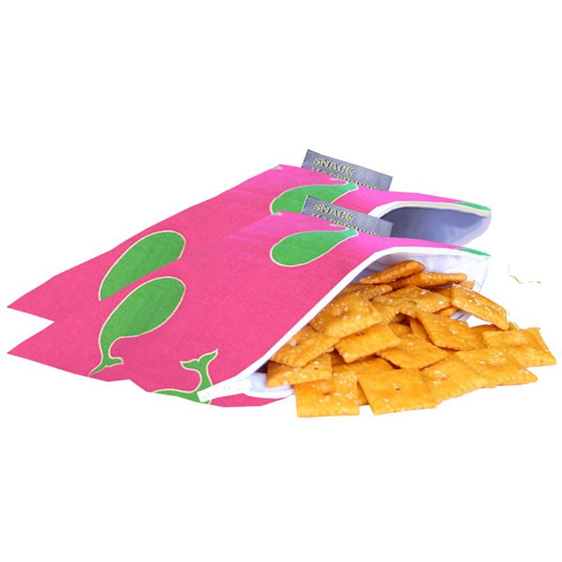 Image of Mini snack bag fra Itzy Ritzy™ - 2 stk. - Whale Watching Pink (814652012874)