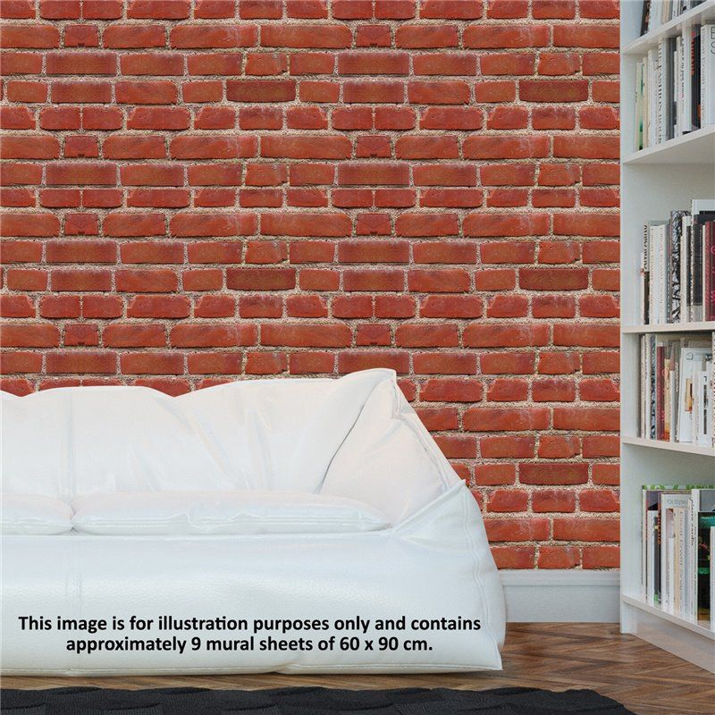 Image of   Wall sticker - Flexiplus Vintage Brick (4 stk)
