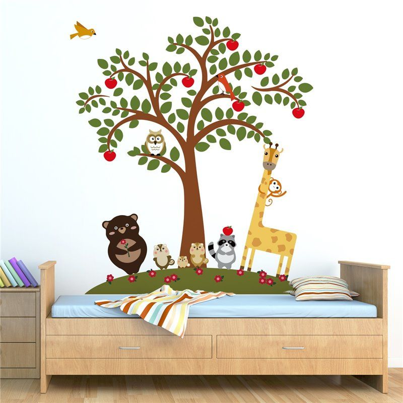 Image of   Wall sticker - Animal Friends og Apple Tree