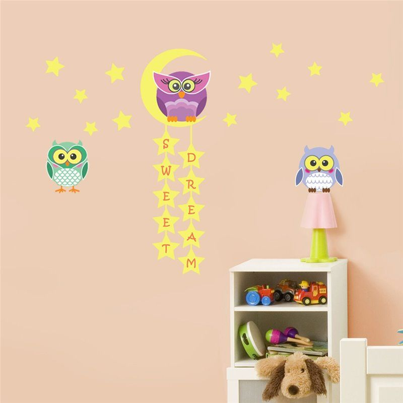 Image of   Wall sticker - Owl Tree stjerne