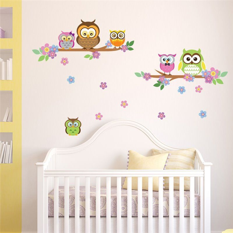 Image of   Wall sticker - Ugle blomst Tree
